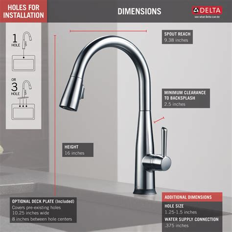 delta faucet 9113 ar dst essa review best pull down single handle pull down kitchen faucet with touch2o