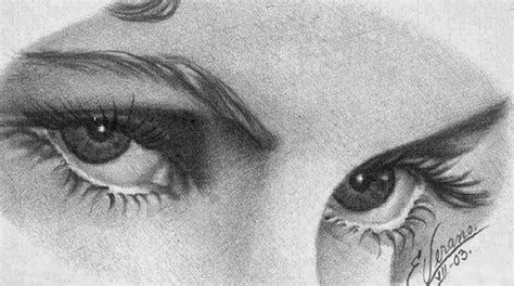 imagenes de dibujos a lapiz rostros cuadros pinturas oleos dibujos de rostros ojos