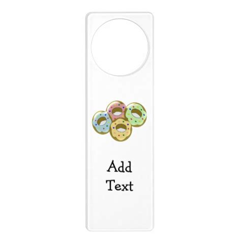 doughnuts door knob hangers zazzle