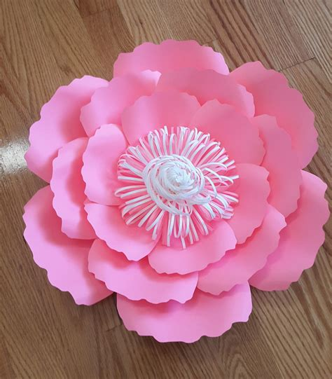 diy paper flower pattern paper flower template svg cut file paper flower pattern