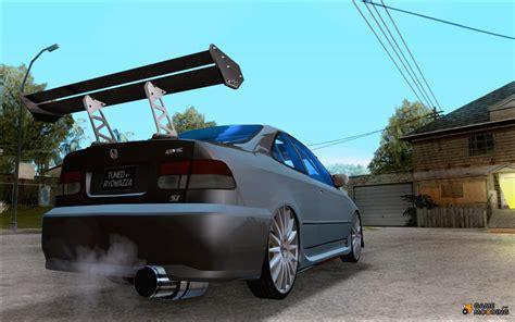 Tuned Honda Civic by Honda Civic Tuned Corrected For Gta San Andreas