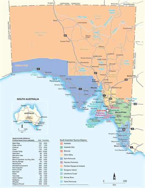 map  southern australia  travel information