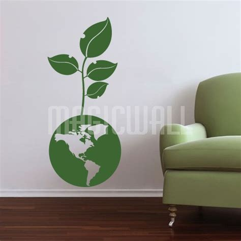 green wall stickers wall decals green earth growing wall stickers
