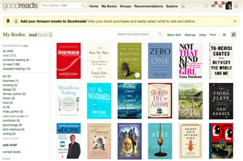 Goodreads Shelf by Books The Second Lunch