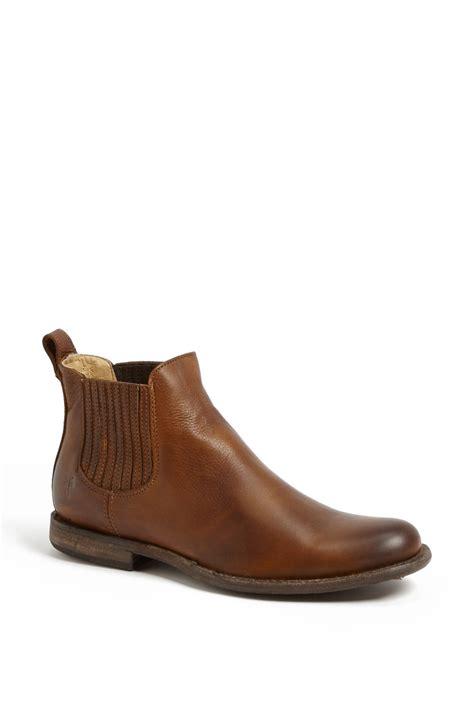 frye chelsea boot frye phillip chelsea boot in brown for cognac lyst