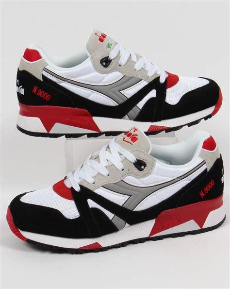 diadora shoes diadora n9000 nyl trainers white grey shoes sneakers mens