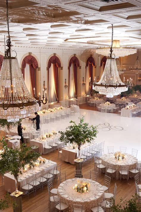 banquet setup for 200 people with long and round tables weddings