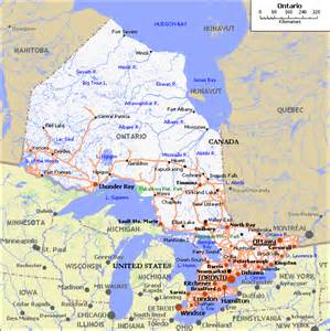 map of ontario south america maps map pictures
