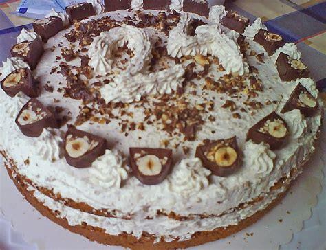 kuchen ohne backen dr oetker ferrero k 252 sschen torte ohne backen rezepte chefkoch de