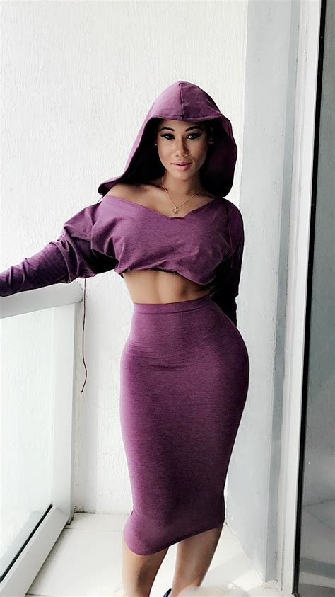 Set Hoodie Midi Skirt custom quot kimmy quot crop top hoodie with fitted midi skirt 2