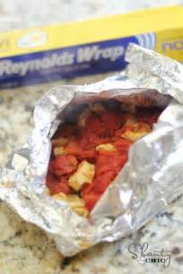 italian chicken and tortellini foil packets in the oven
