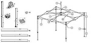 Easy Up Canopy Replacement Parts by Ez Up Canopy Parts Complete Pdf Library