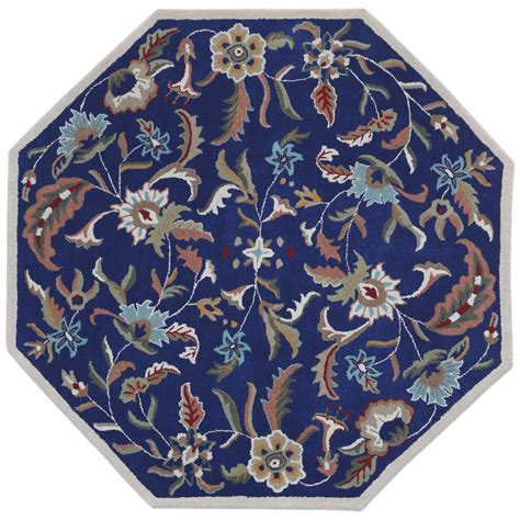 6 ft rugs traditions blue paradise octagon 6 ft rug st croix