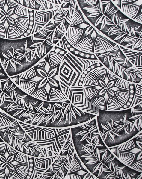 polynesian tattoo designer tapa patterns ferns polynesian fabric check it out
