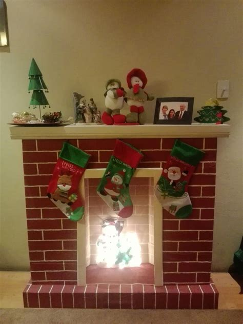 chimenea de navidad chimenea navide 241 a hecha con cajas de carton chimenea