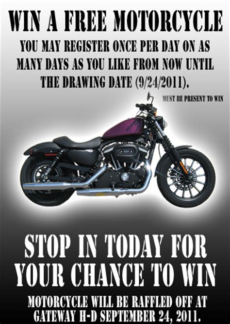 free motorcycle giveaway bike night usa - Free Motorcycle Sweepstakes