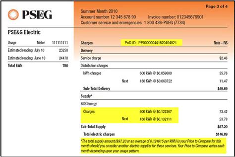 jersey central power and light customer service number how to read my bill