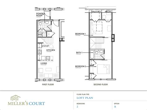 loft blueprints floor plans