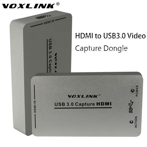 Usb Capture Hdmi voxlink usb3 0 usb2 0 hdmi capture dongle 1080p 60fps uac