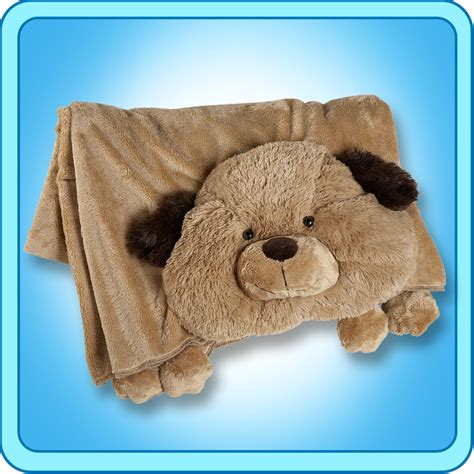 puppy pillow pet authentic pillow pet puppy blanket plush gift ebay
