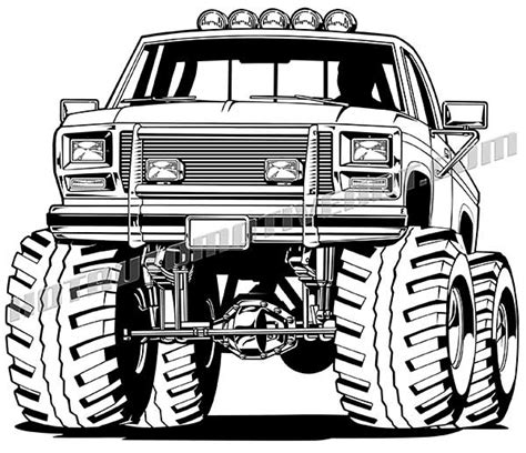 mud truck clip royalty free lifted ford 4x4 pickup truck clip art