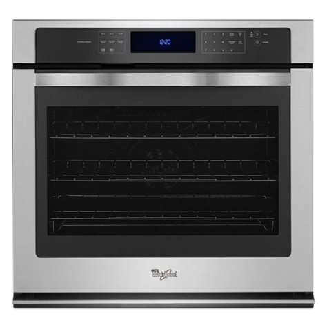shop whirlpool self cleaning convection single electric wall oven stainless steel common 30