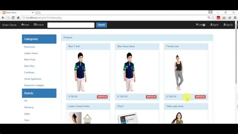 Shopping Cart Tutorial Bootstrap Jquery Ajax Php Mysqli Part 21 Youtube Jquery Shopping Cart Templates
