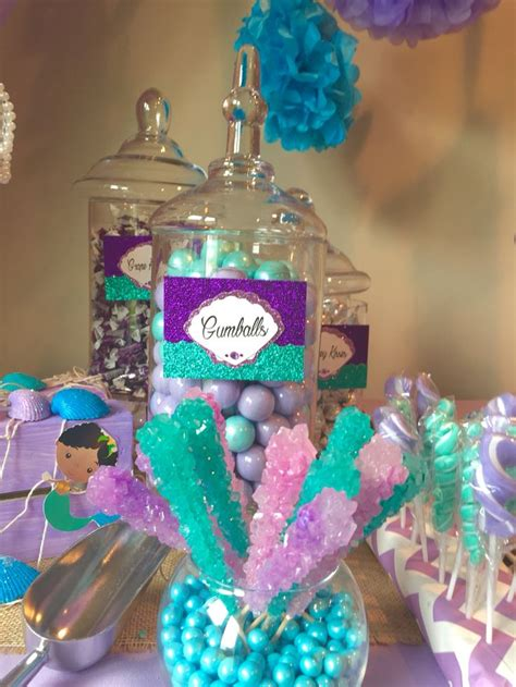 under the sea candy table under the sea theme table by glam candy buffets glam