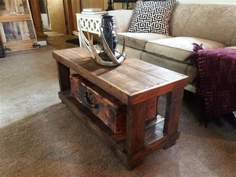 Handmade Pallet Furniture - diy rustic wood pallet coffee table 99 pallets