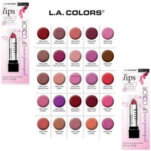 la colors mascara l a colors professional series moisture lipstick u