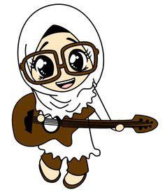 wallpaper animasi gitar koleksi gambar kartun ana muslim dan muslimah muslimah