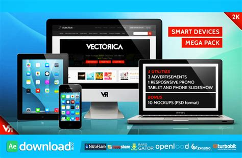 Videohive After Effects Project Footage Mega Bundle smart devices mega pack after effects project videohive free after effects template