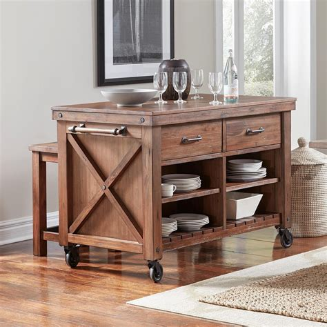 island tables for kitchen aamerica anacortes kitchen island with wood top and