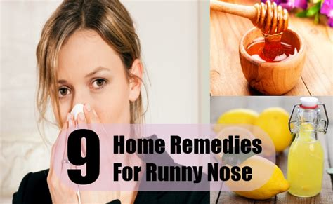 9 home remedies for runny nose treatments cure