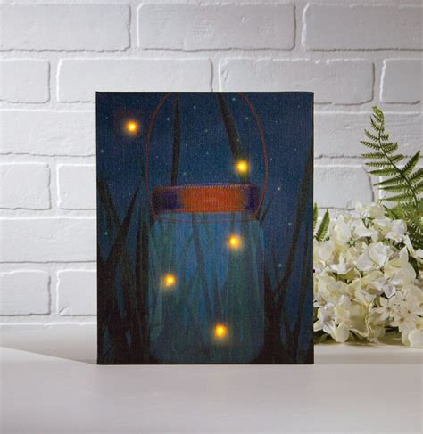 lighted canvas with timer radiance lighted canvas firefly jar with timer shelley b
