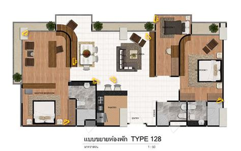 Room Type by Bangkok Luxury Condo Fourwings Residence Srinakarin