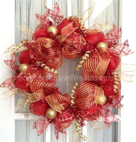deco mesh wreath deco mesh wreath slim screen door gold