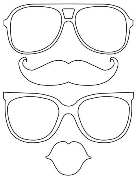 printable photo booth props to color printable lips mustache glasses free diy printabl file