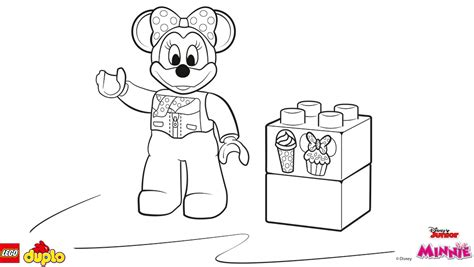 lego 174 duplo 174 minnie mouse coloring page coloring page