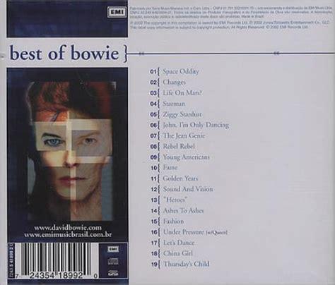 bowie best of david bowie best of bowie cd album cdlp 231838