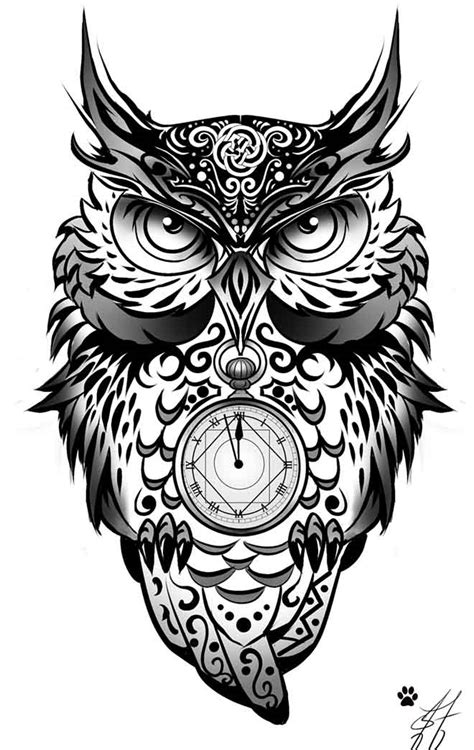 owl tattoos tribal owl 12 owl and wolf
