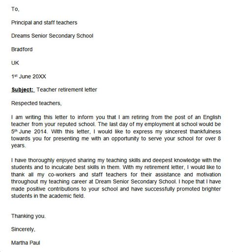 Best Written Resignation Letter Resignation Letter Format Top Resignation Retirement Letter Sle Uk Best Retirement