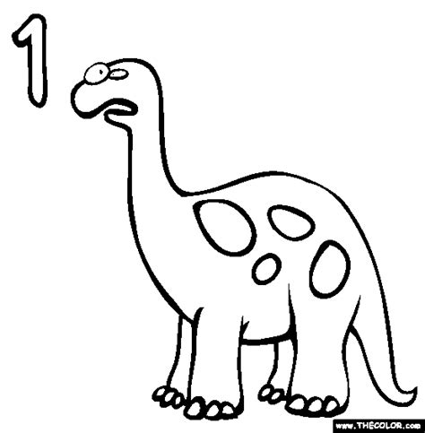 Numbers Online Coloring Pages   Page 1