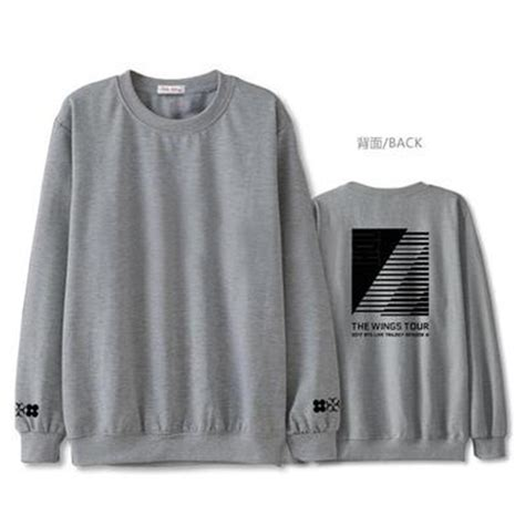 bts merchandise kpop bts wings 2017 sweater merchandise sweat shirt tee