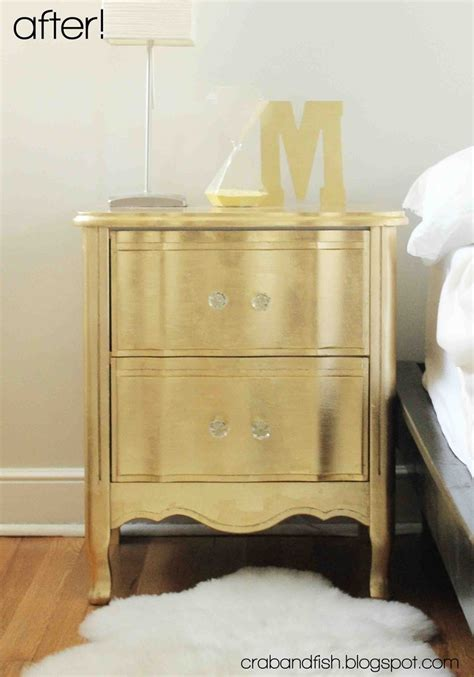 gold nightstand 308 best metallic painted furniture images on