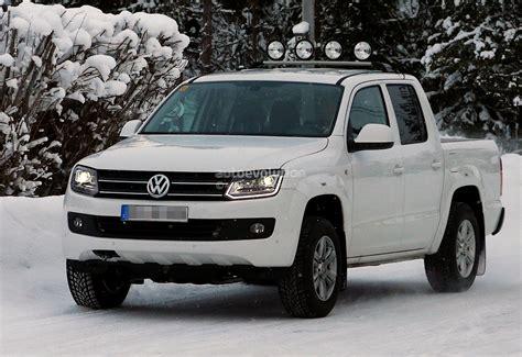 volkswagen xenon spyshots volkswagen amarok with xenon headlights and led