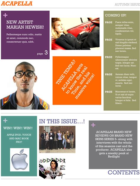 page design ideas contents page layout ideas annapritchard s blog