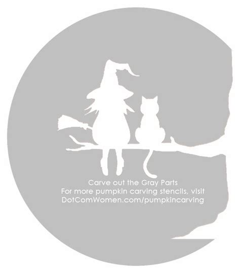 witch  cat pumpkin carving patterns google search