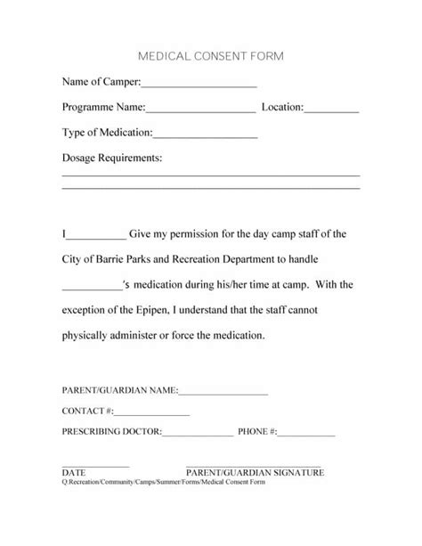 45 Medical Consent Forms 100 Free Printable Templates Free Consent Form Template