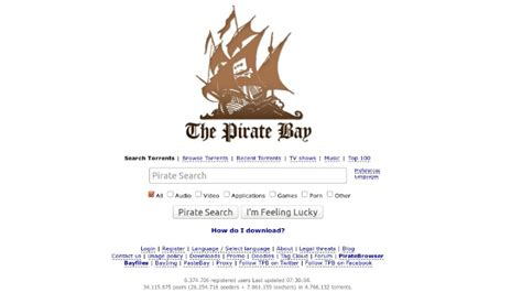 pirate bay no more pirated torrent links in google search results
